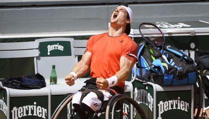 Desahogo. Ayer, en París, cuando Fernández se quedó con Roland Garros.