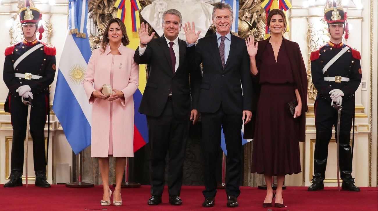Mauricio Macri e Iván Duque