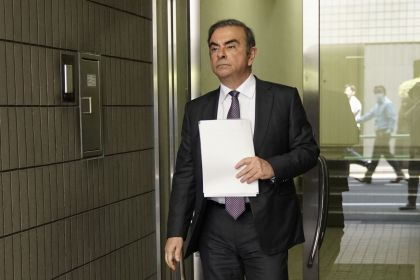 Former Nissan Chairman Carlos Ghosn Visits Tokyo Court For Pretrial Hearing