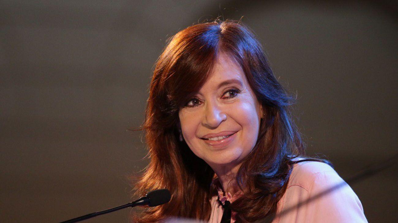 Cristina Kirchner en la presentación de su libro en Santiago del Estero.