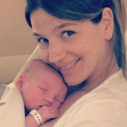 Marcela Kloosterboer y su bebé