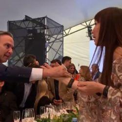 Pichetto y Moria en la Vendimia Solidaria