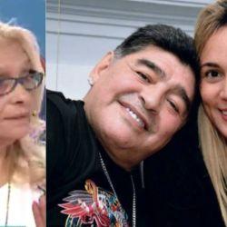 Rocío Oliva a las piñas con la hermana de Diego Maradona