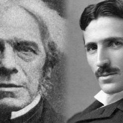 Michael Faraday y Nikola Tesla