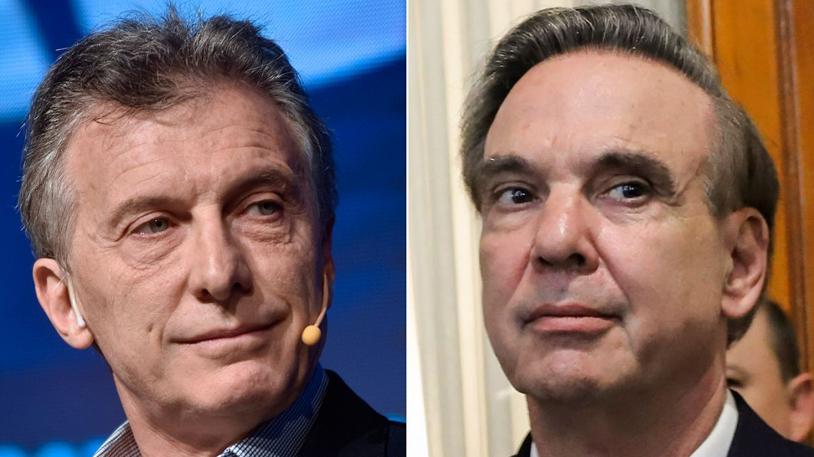 Mauricio Macri and Miguel Ángel Pichetto.