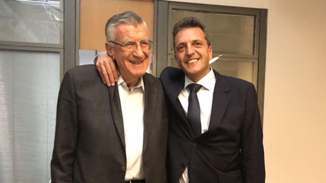 JP Party national president José Luis Gioja and Sergio Massa.