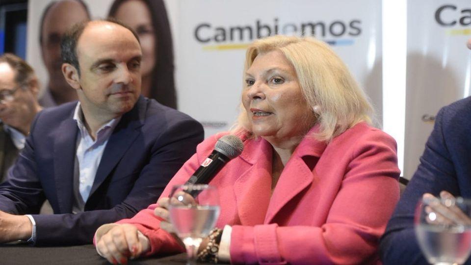 Elisa Carrió viajó a Santa Fe para apoyar al candidato de Cambiemos, José Corral.
