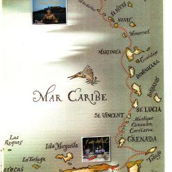 El recorrido de los tres aventureros, desde Venezuela a Puerto Rico tocando 23 islas y 12 países.