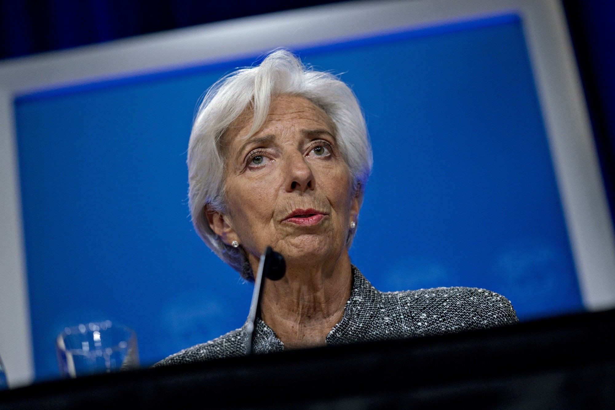 IMF's Lagarde Holds News Conference On Annual Review Of U.S. Economy