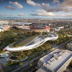 ¿Aterrizó un OVNI en LA? No, así será el nuevo museo de Storytelling de Geroge Lucas.