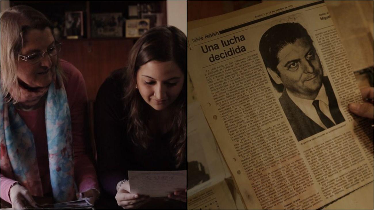 Florencia Ocre emprende con el documental una reconstrucción sobre la vida de su abuelo, el dirigente Miguel Gazzera.