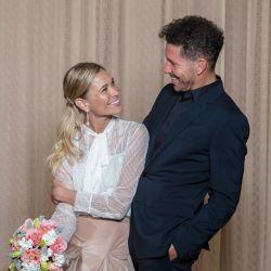 Cholo Simeone y Carla Pereyra se casaron en Buenos Aires