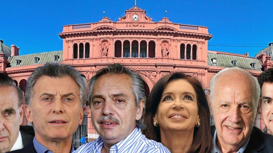 Pichetto, Macri, Fernandez, Cristina, Lavagna and Urtubey.