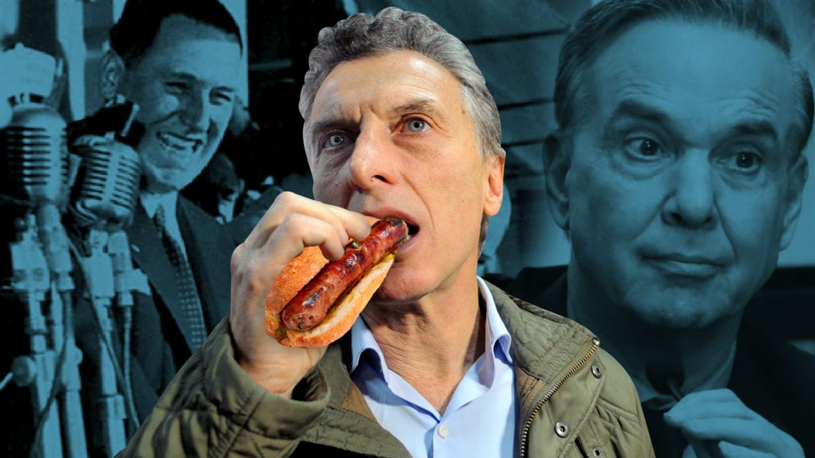 Macri eating the classic