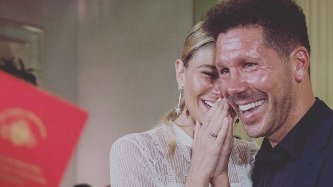 Carla Pereyra y Diego Pablo Simeone se casan por sorpresa en Argentina