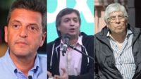 Sergio Massa, Máximo Kirchner, Hugo Moyano