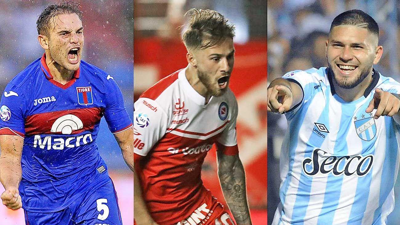 Buscados. Menossi, MacAllister y Barbona, tres de los jugadores que protagonizan este invierno frío en números y también en transferencias concretadas.