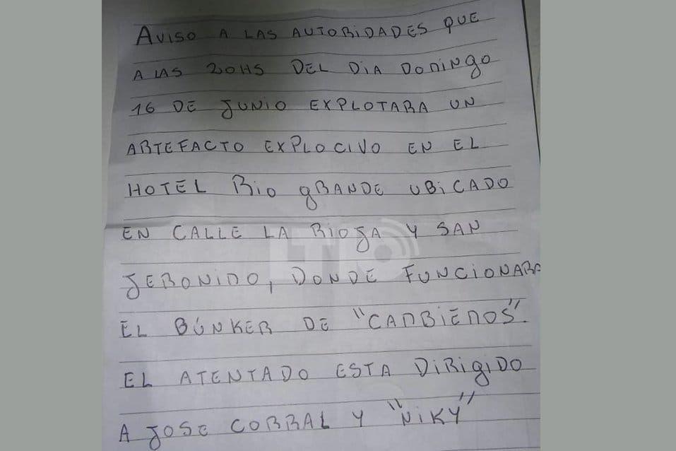 La primer parte de la amenaza de bomba en el búnker de Cambiemos en Santa Fe