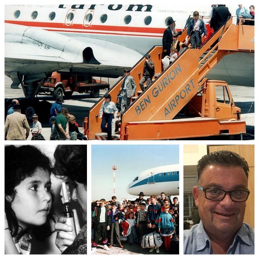 """ARRIBO. Los 'Niños de Chernobyl´ desembarcando en el aeropuerto Ben Gurion, de Tel Aviv para ser atendidos por médicos israelíes. Rodolfo """"Rudy"""" Eiben, uno de los referentes del grupo de cordobeses que envió ayuda."""