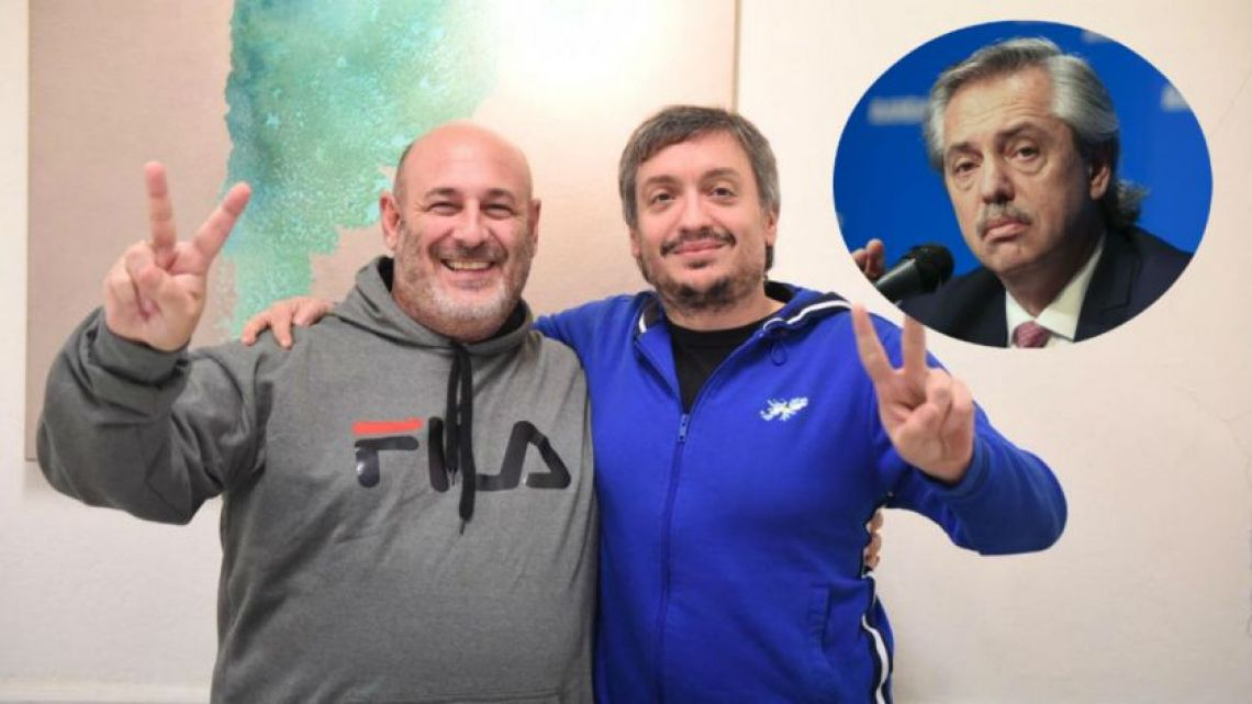 Santiago Cuneo and Máximo Kirchner.