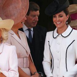 Máxima de Holanda, Letizia de España y Kate Middleton, juntas en Garter Day.