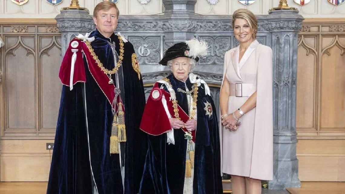 Isabel II de anfitriona y Máxima de invitada de lujo.