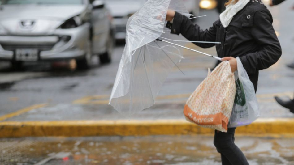 Lluvia intensa en Buenos Aires