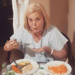 Marta compartió una imagen desde la clínica