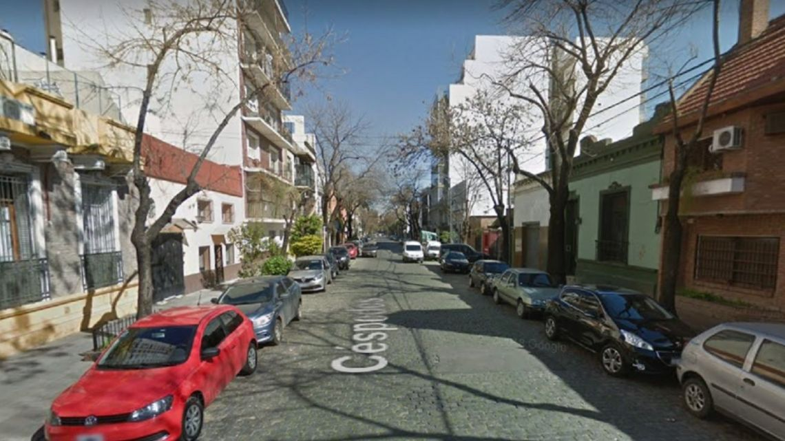 The location where the body was found in Colegiales.