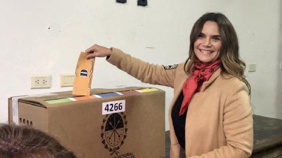 Amala Granata en la votación de Santa Fe.