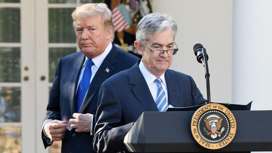 Donald Trump y Jerome Powell, el titular de la Reserva Federal.