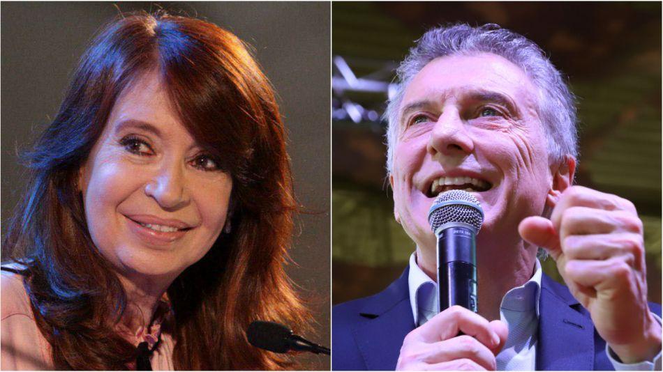Cristina Kirchner y Mauricio Macri.