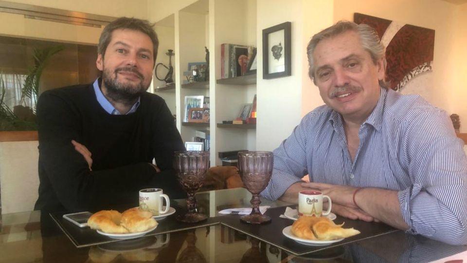 Lammens junto a Alberto Fernández.
