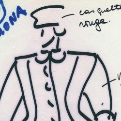 Dibujo de Pablo et Delia, la marca de diseñadores argentinos que por sus diseño triunfaron en París