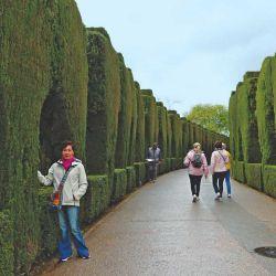 Los caminos de la Alhambra, plenos de verde y fuentes de agua.