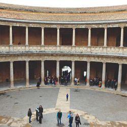 Interior del Palacio de Carlos V, en la Alhambra.