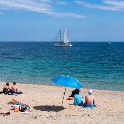 La playa de Port Pelegrí, en Calella de Palafrugell
