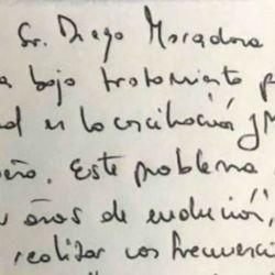 El informe sobre la salud de Maradona