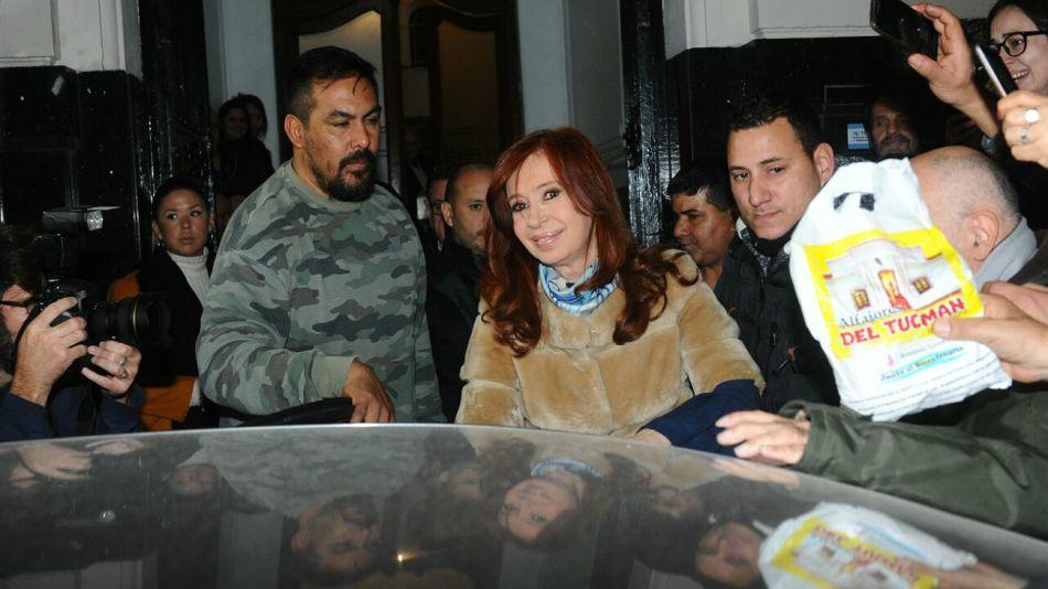 Cristina Kirchner, al retirarse del Instituto Patria.