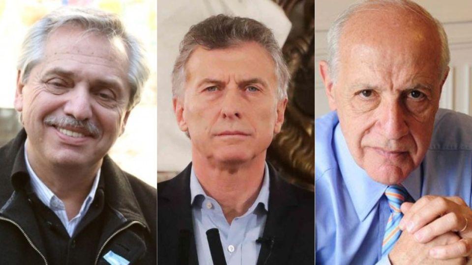 Alberto Fernández, Mauricio Macri y Roberto Lavagna