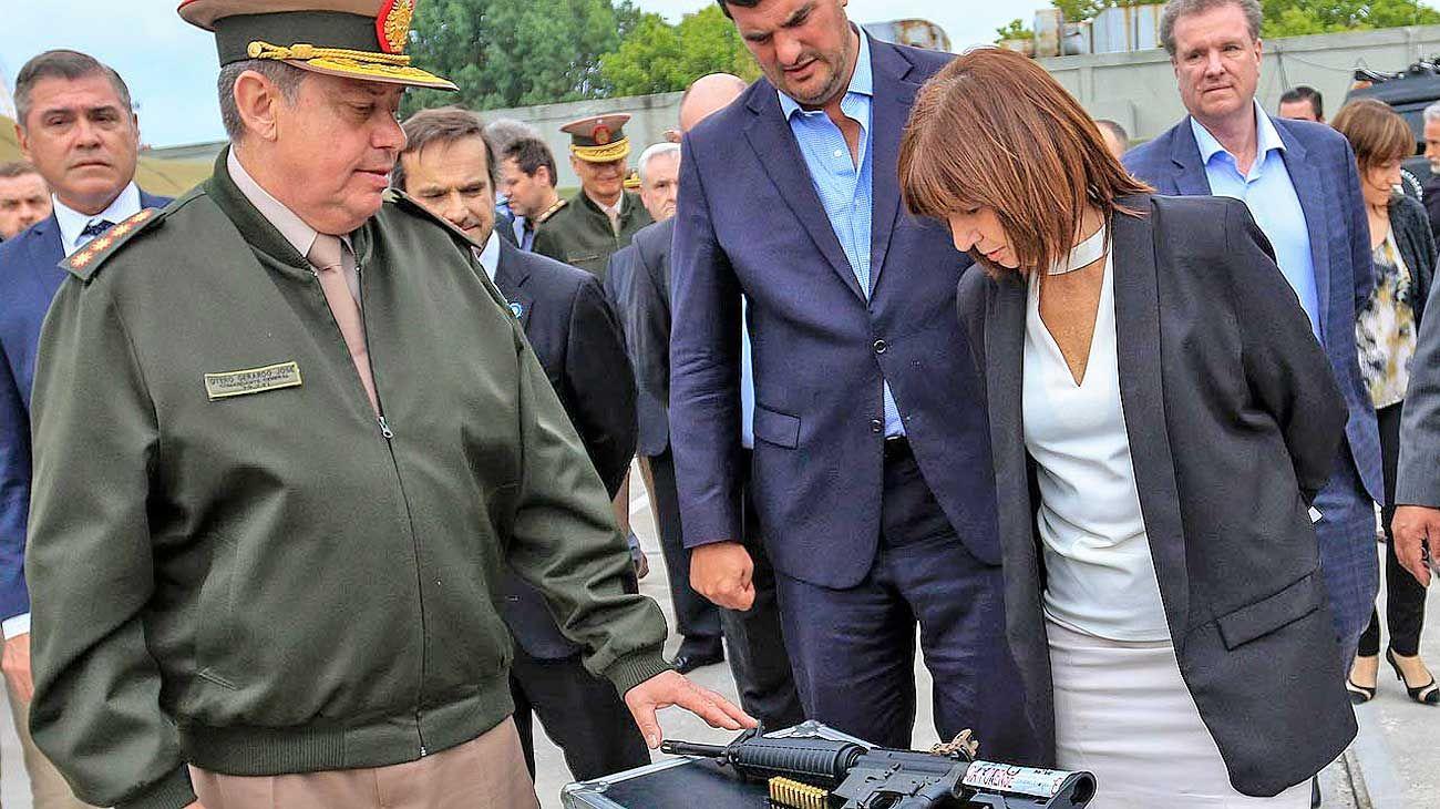 Bullrich. La ministra de Seguridad defendió el derecho de portar armas de los ciudadanos.