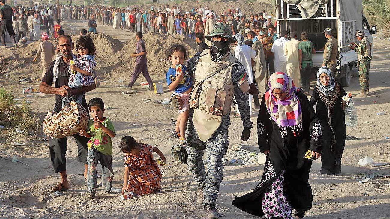 Desplazados. El año pasado hubo más de 70 millones.