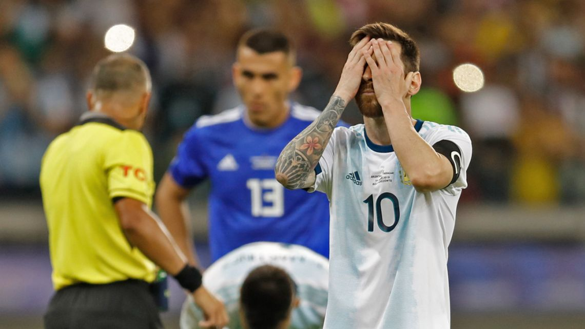 Messi struggles as Argentina is close to elimination.