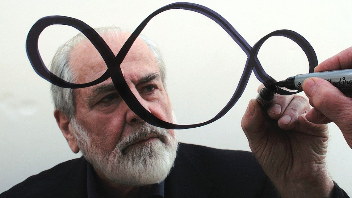 The Italian artist, Michelangelo Pistoletto.