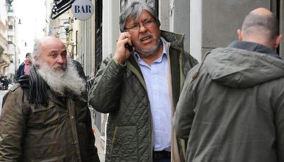 """Emilio Pérsico y Fernando """"Chino"""" Navarro, claves en el manejo de los planes sociales."""
