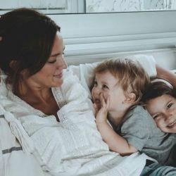 Paula Chaves y sus hijos