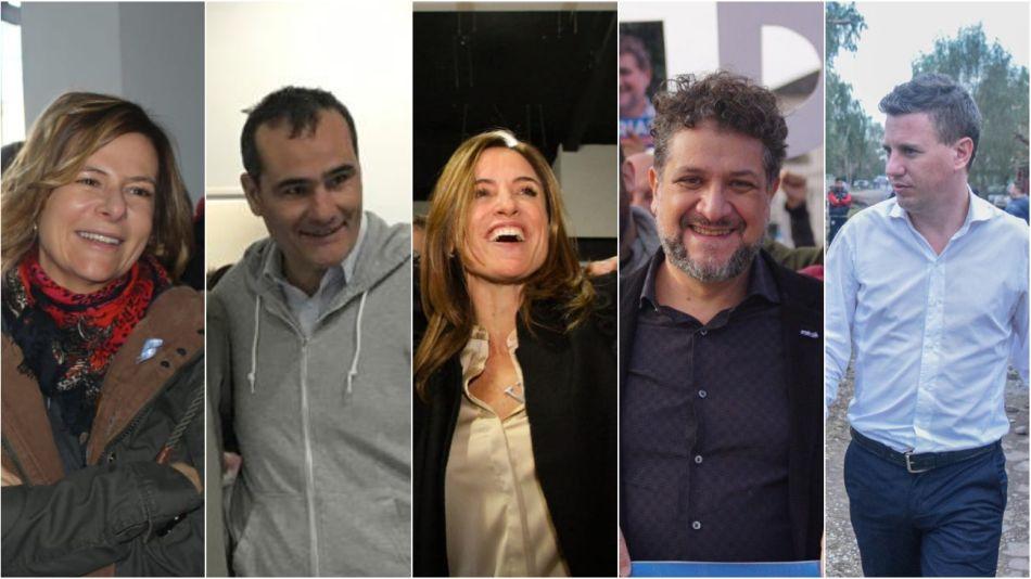 Precandidatos. Saintout, Escudero, Tolosa Paz, Arias y Martelli.
