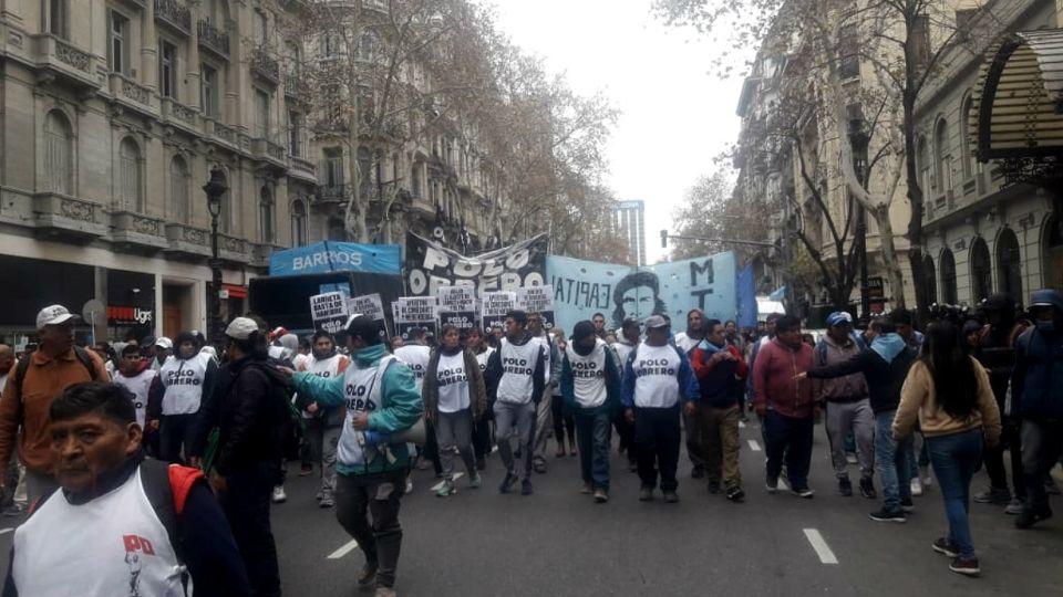Movimiento Teresa Rodriguez, en la marcha.