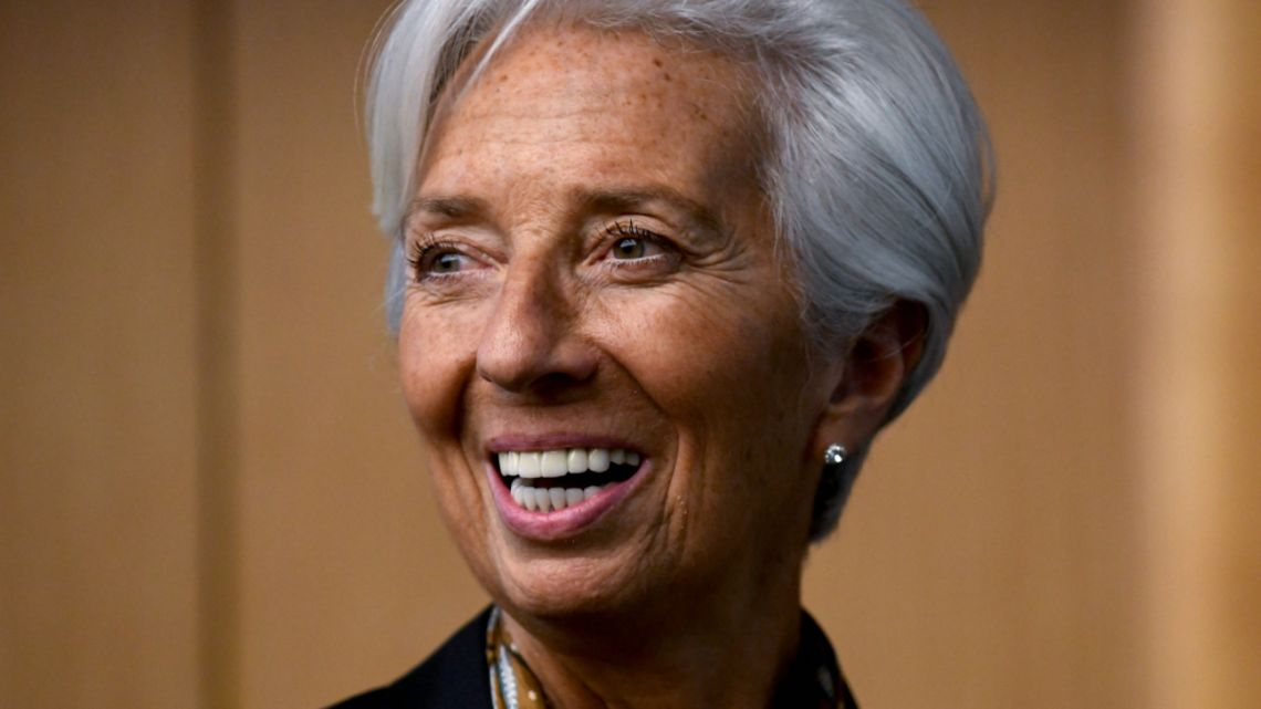 International Monetary Fund (IMF) Managing Director Christine Lagarde during a press conference in Kuala Lumpur.