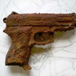 Si no se conservan en condiciones óptimas, las armas se oxidan.
